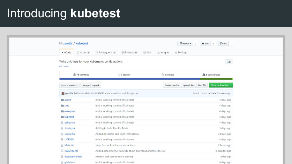 Introducing kubetest