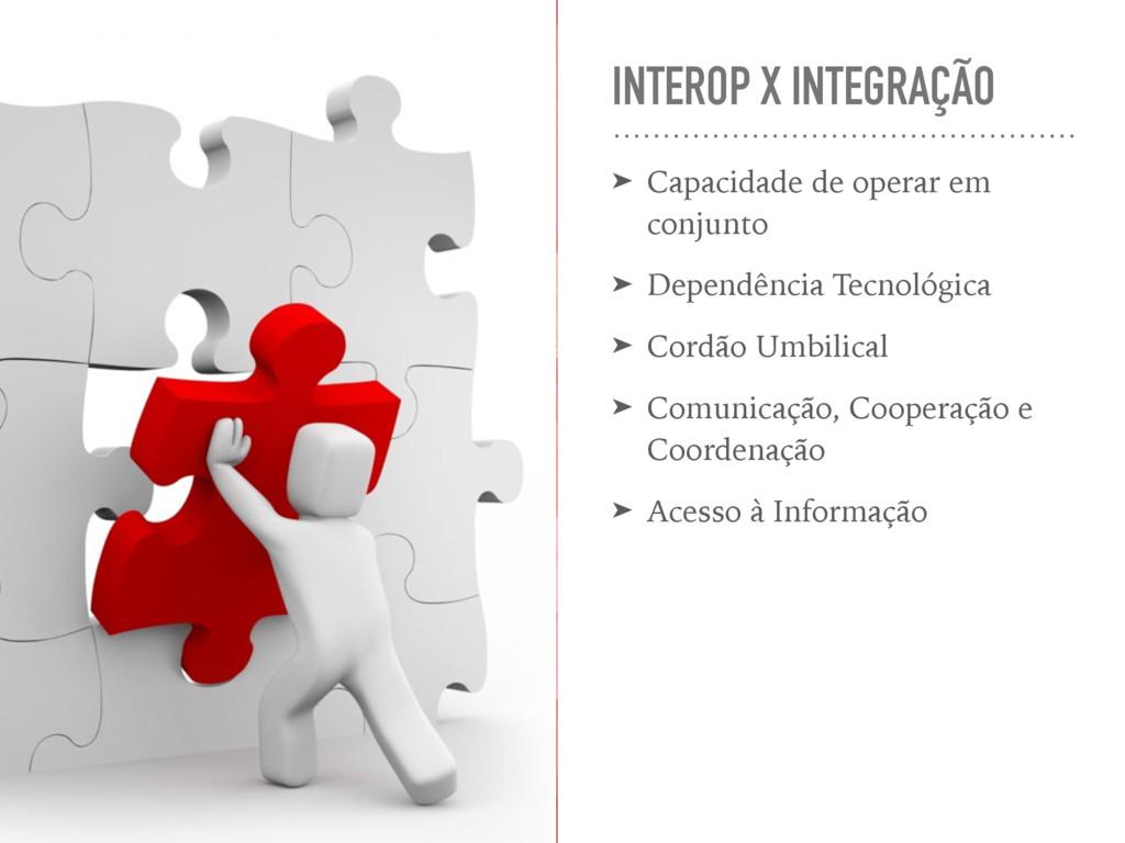 INTEROP X INTEGRAÇÃO ➤ Capacidade de operar em ...