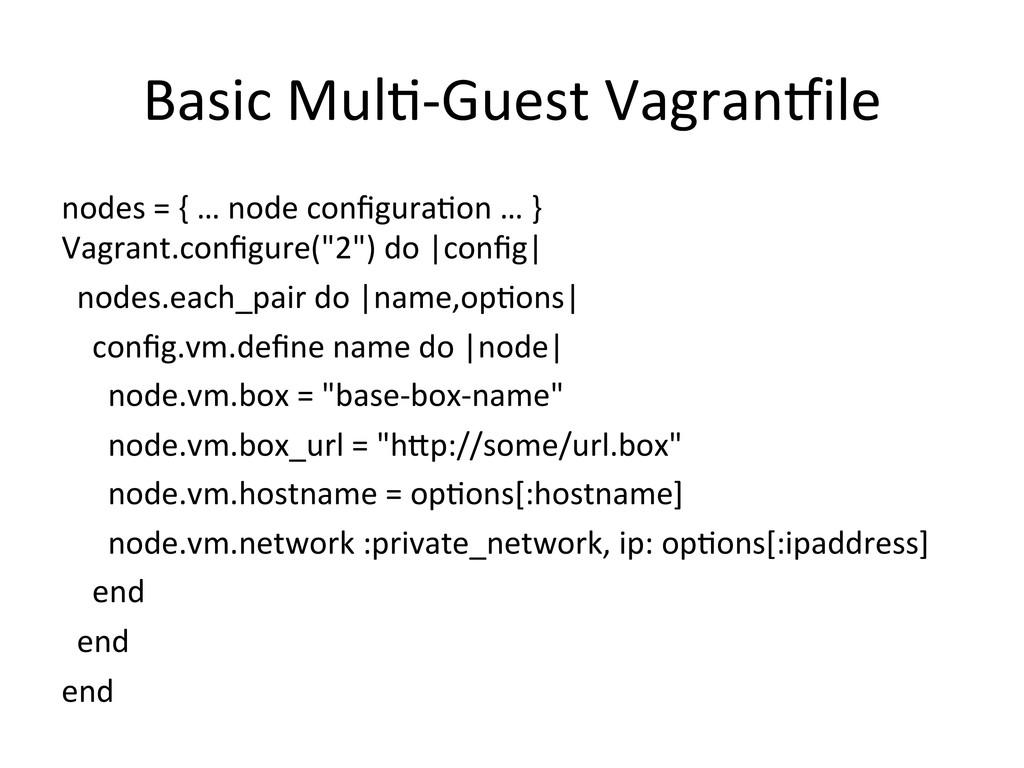 Basic MulY-‐Guest VagranVile  nodes...