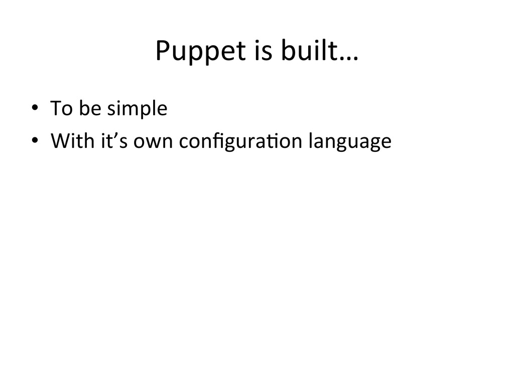 Puppet	