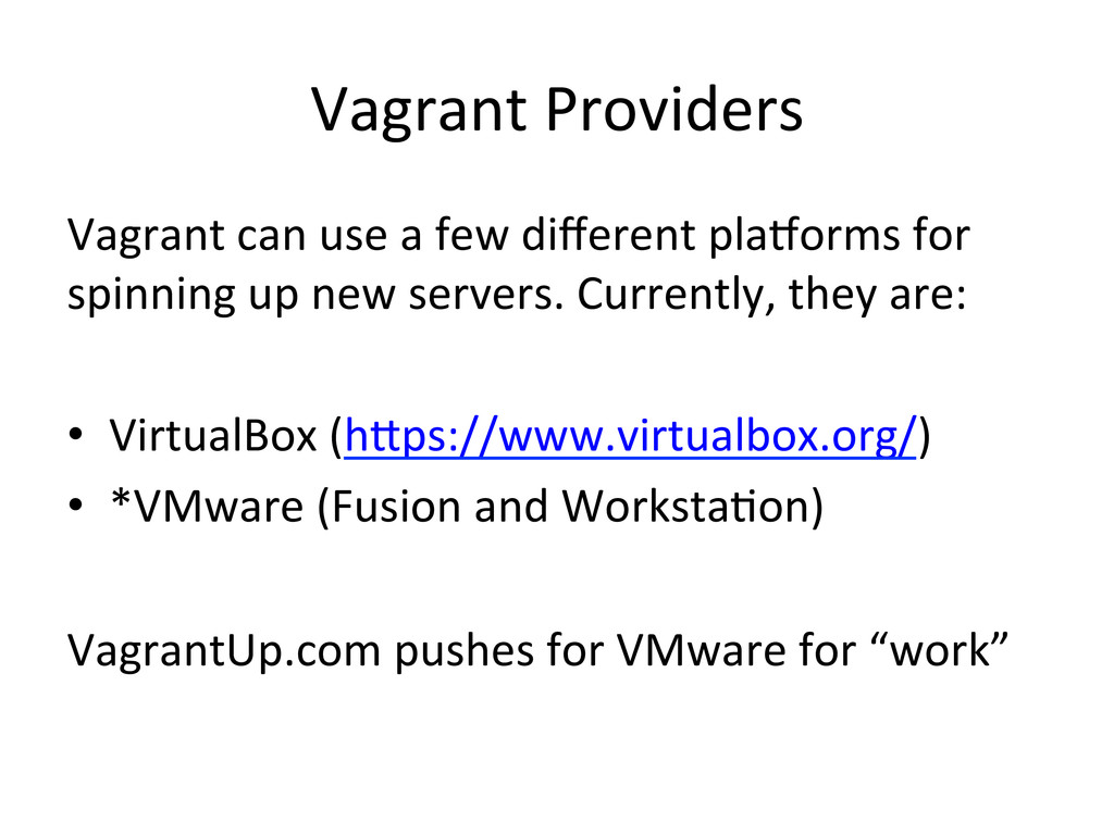 Vagrant	