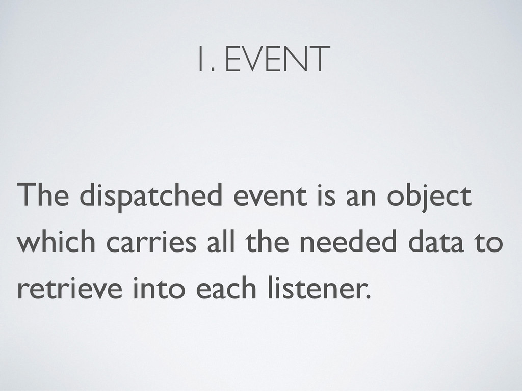 1. EVENT The dispatched event is an object whic...