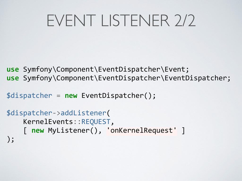 EVENT LISTENER 2/2 use	