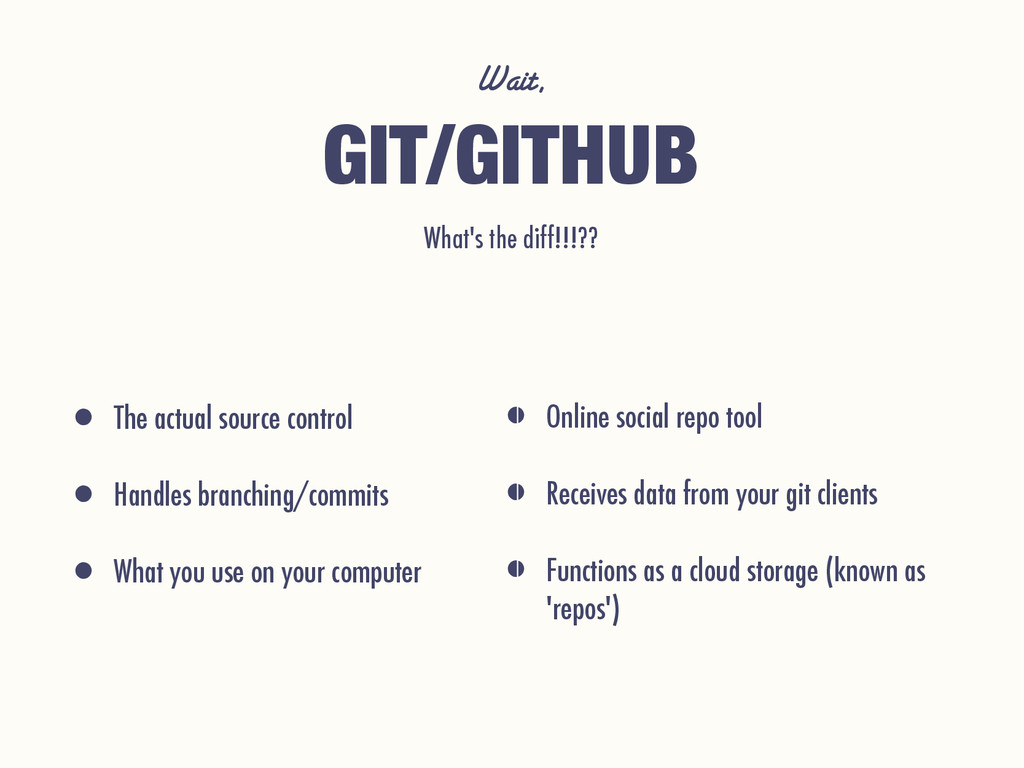 Wait, What's the diff!!!?? GIT/GITHUB • Online ...
