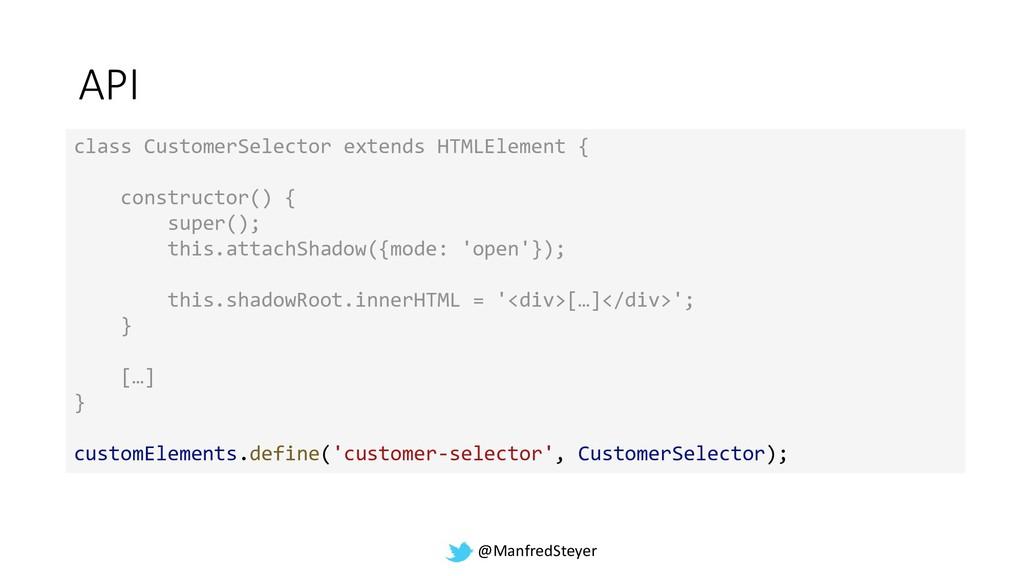 @ManfredSteyer API class CustomerSelector exten...