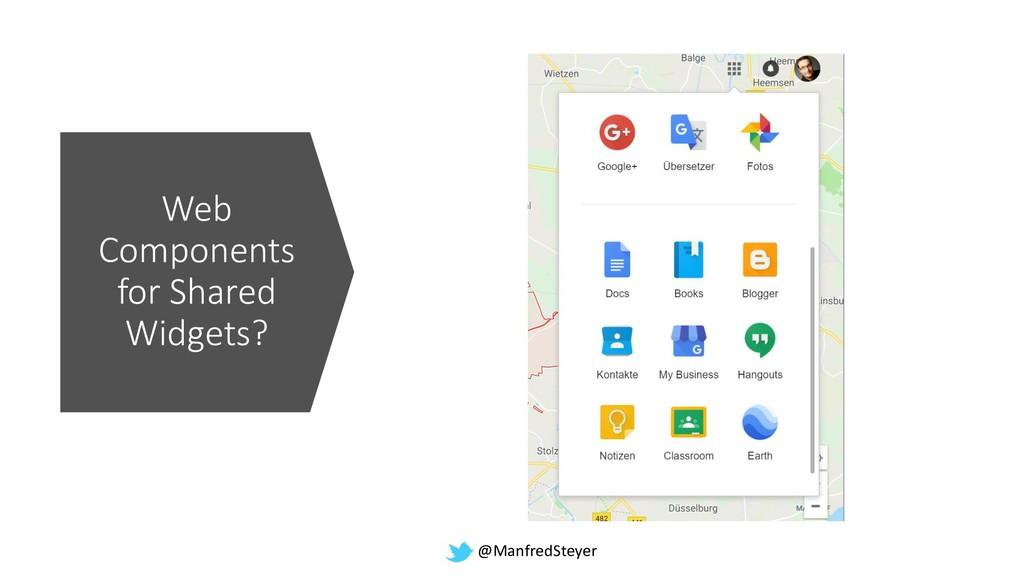 @ManfredSteyer Web Components for Shared Widget...