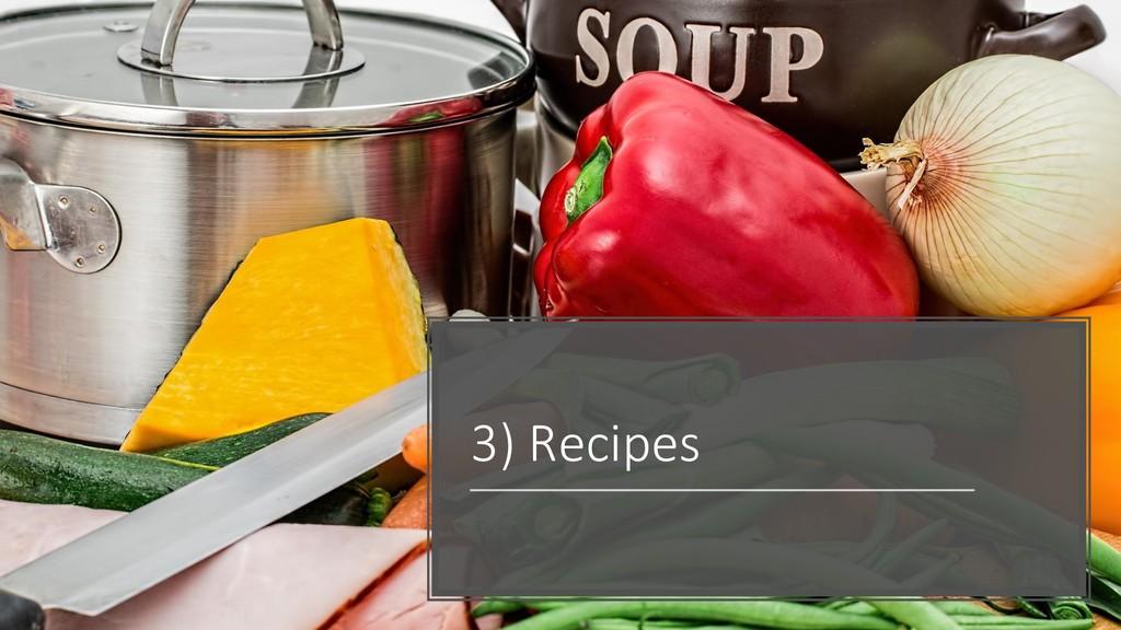 @ManfredSteyer 3) Recipes