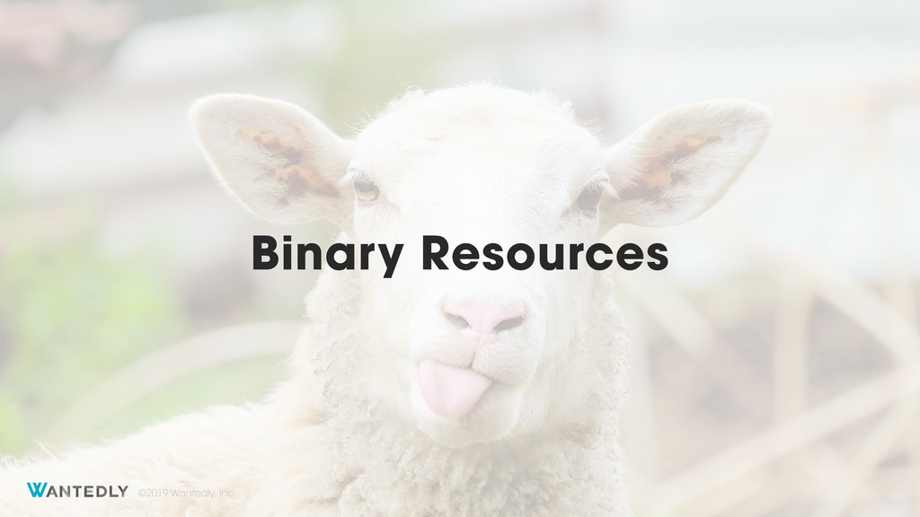 ©2019 Wantedly, Inc. Binary Resources