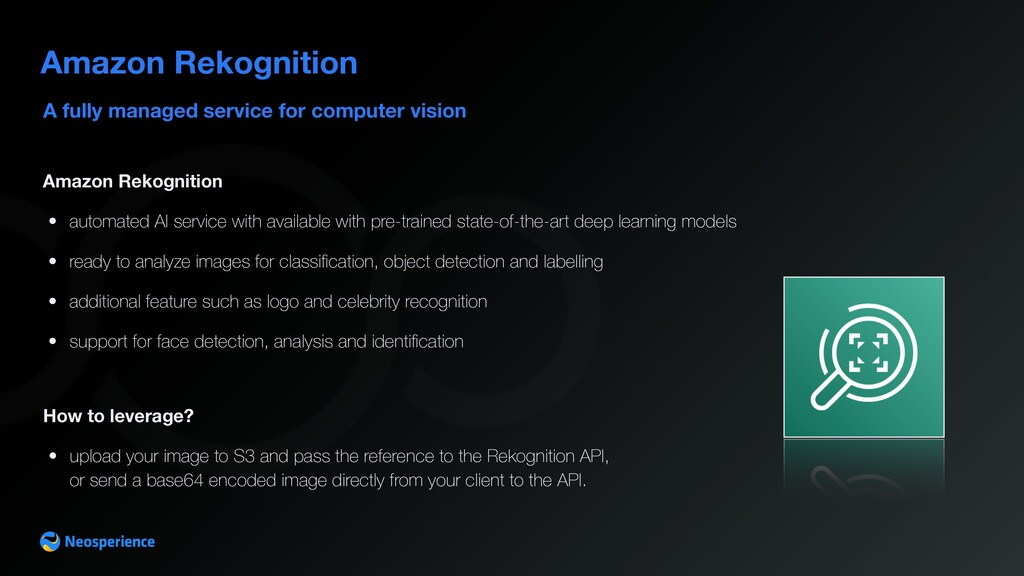 A fully managed service for computer vision Ama...