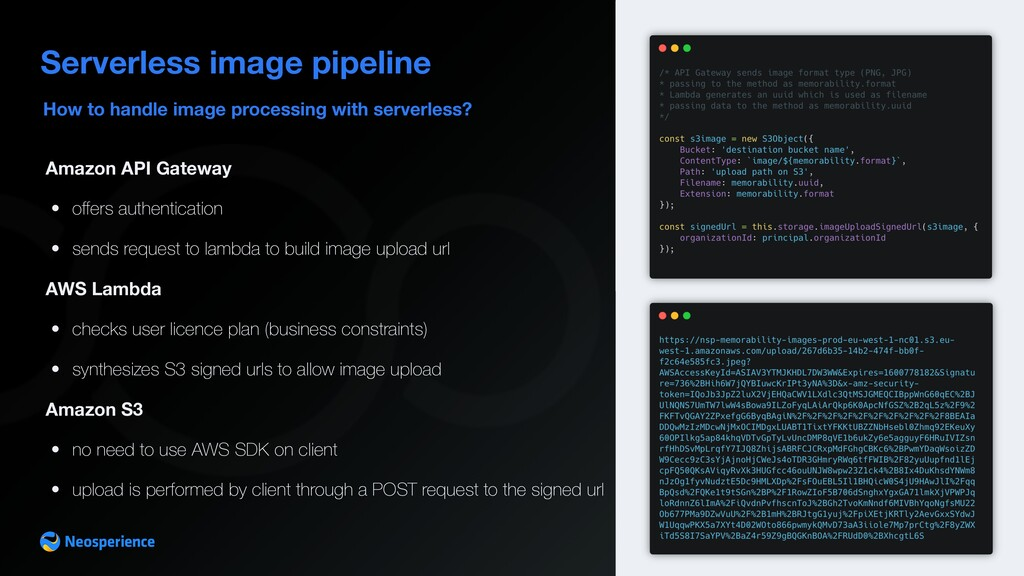 How to handle image processing with serverless?...