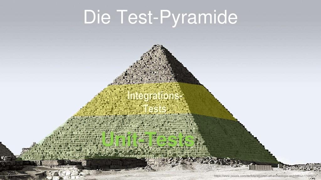Die Test-Pyramide Unit-Tests Integrations- Tests