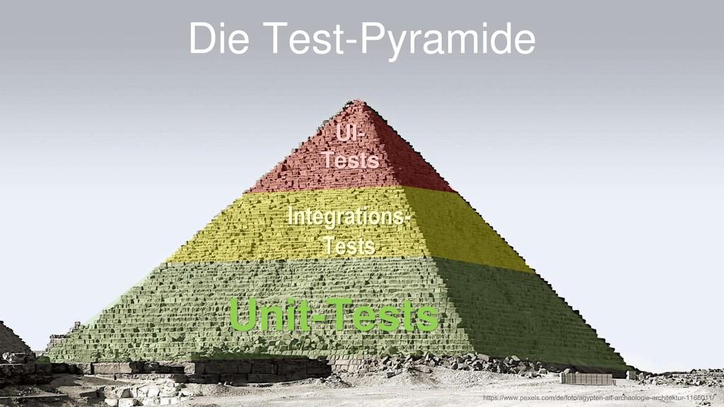 Die Test-Pyramide Unit-Tests Integrations- Test...