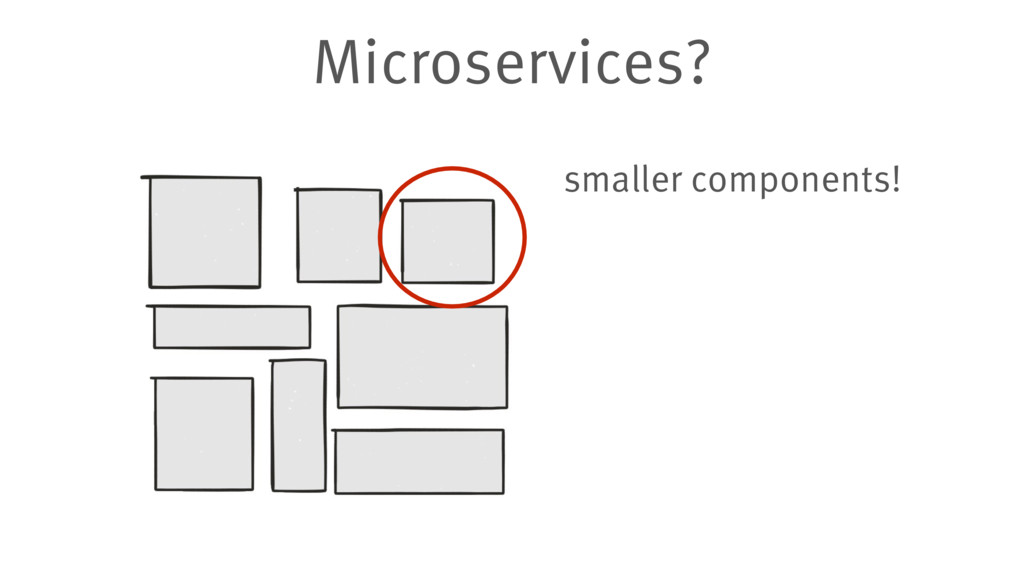 Microservices? smaller components!