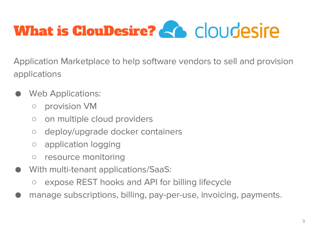 What is ClouDesire? Application Marketplace to ...