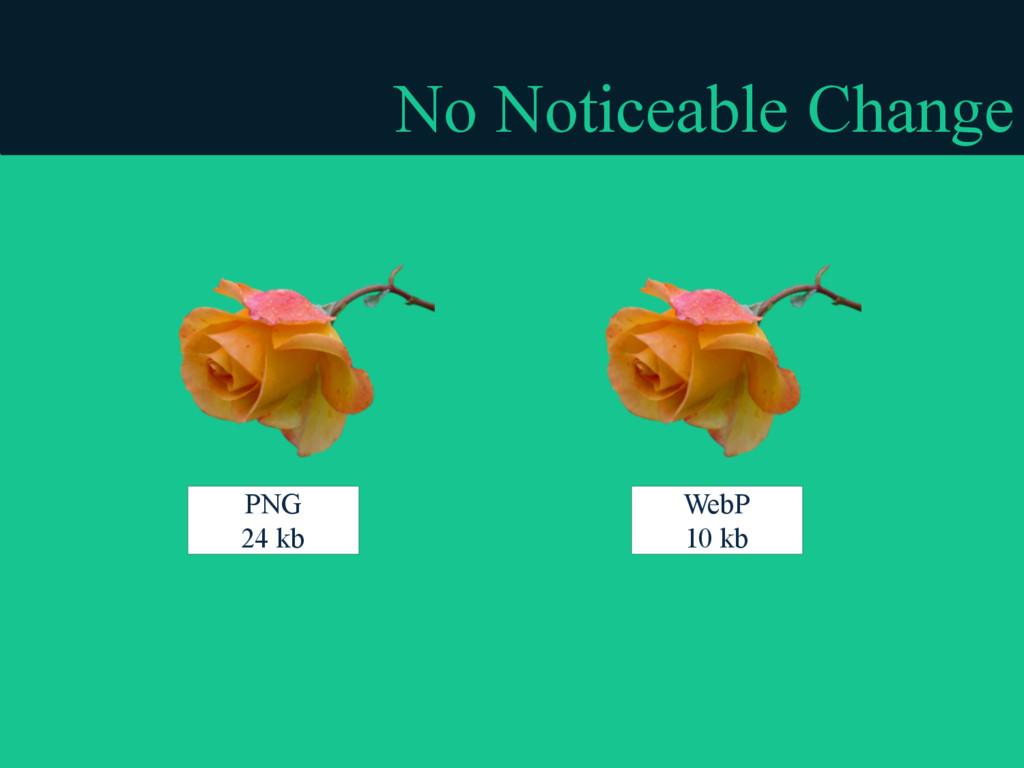 No Noticeable Change PNG 24 kb WebP 10 kb