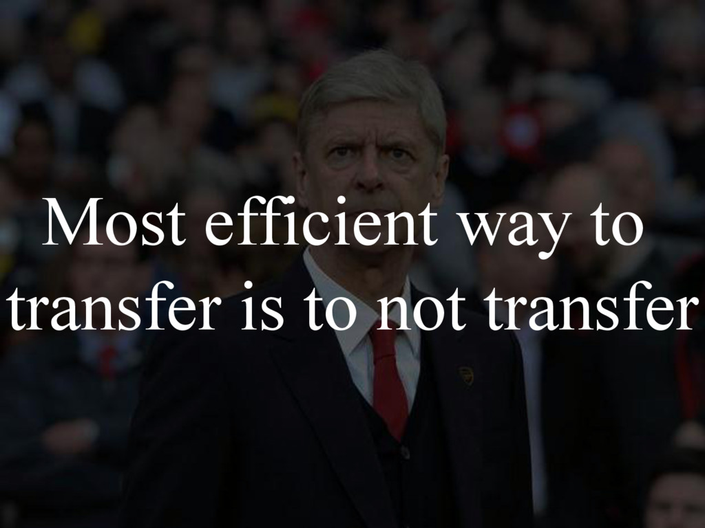 Most efficient way to transfer is to not transf...