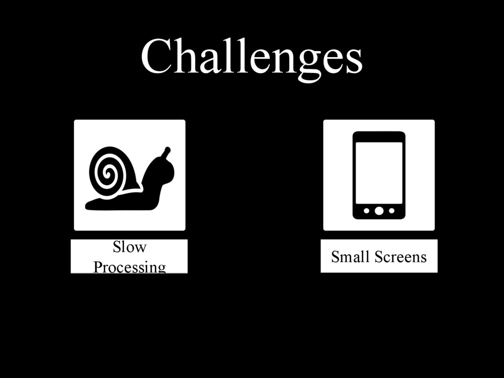 Small Screens Slow Processing Challenges