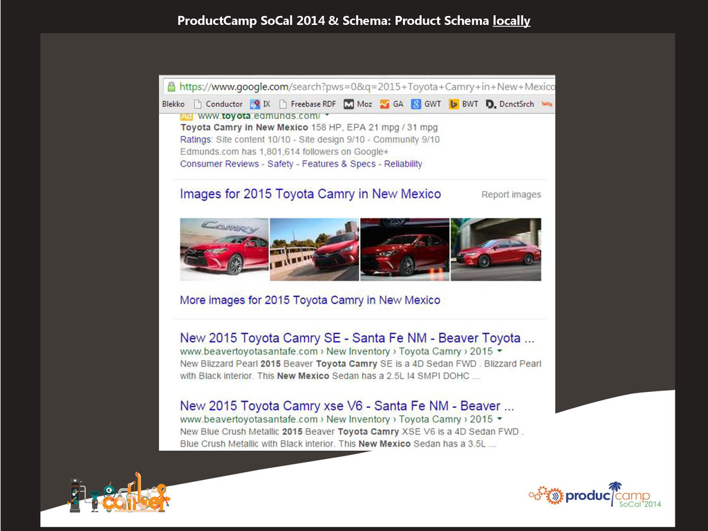 ProductCamp SoCal 2014 & Schema: Product Schema...