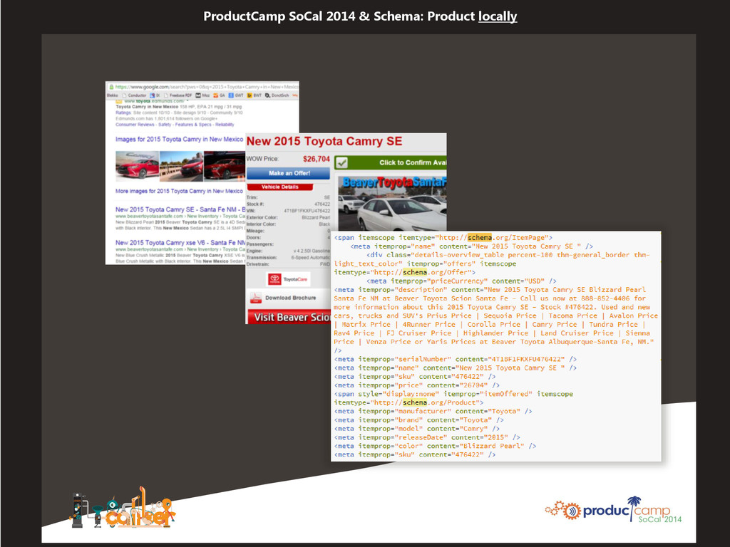 ProductCamp SoCal 2014 & Schema: Product locally