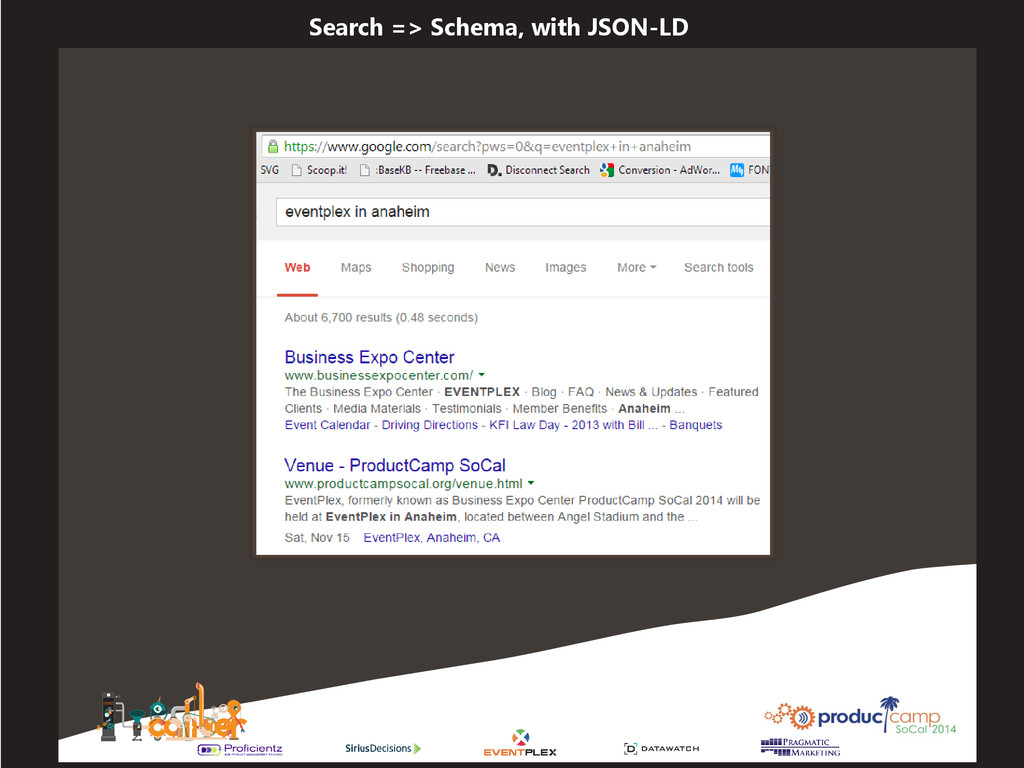 Search => Schema, with JSON-LD