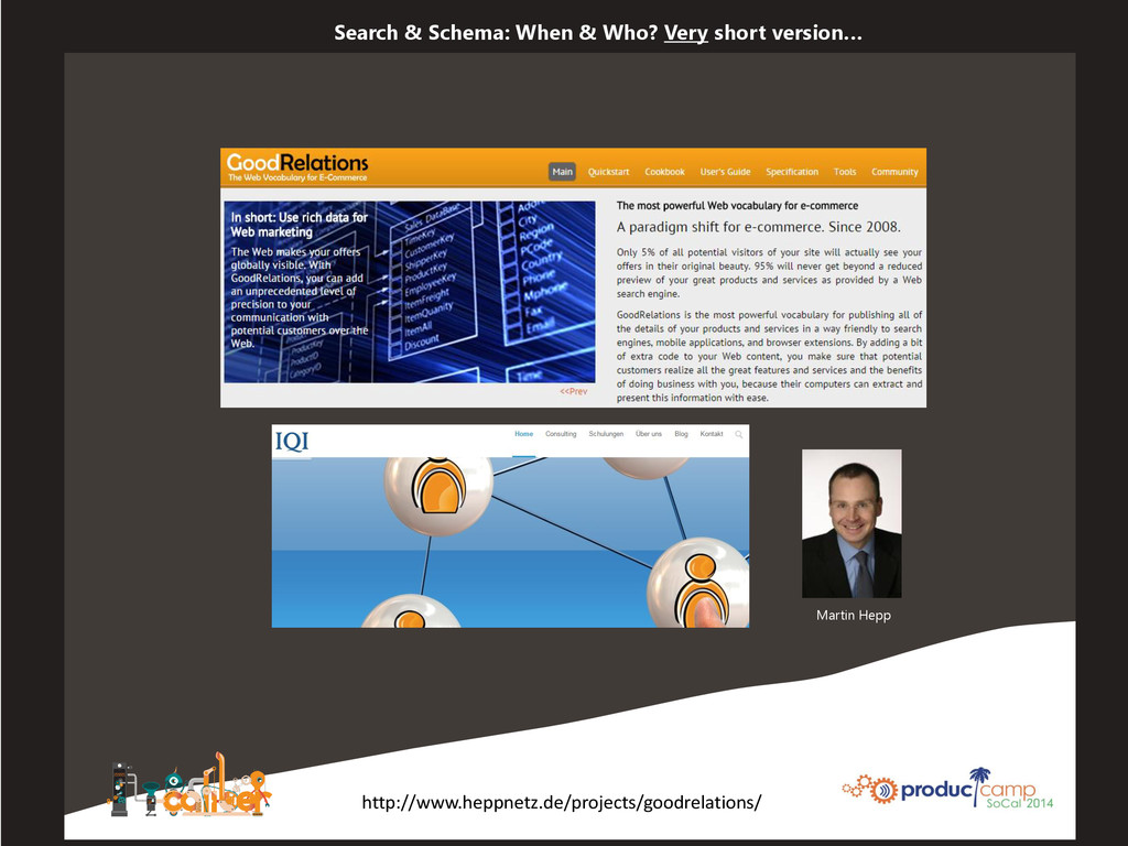 Search & Schema: When & Who? Very short version...