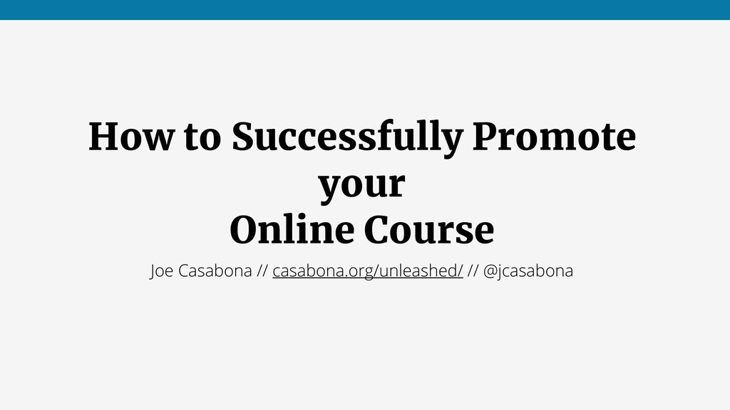 How to Successfully Promote your Online Course ...