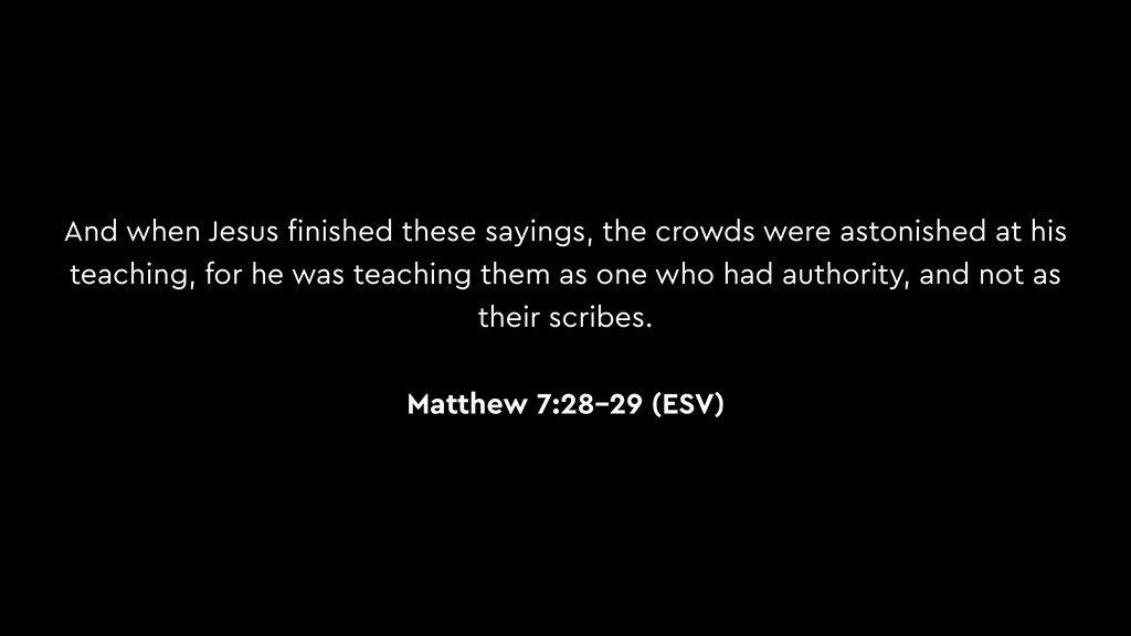 And when Jesus finished these sayings, the crowd...
