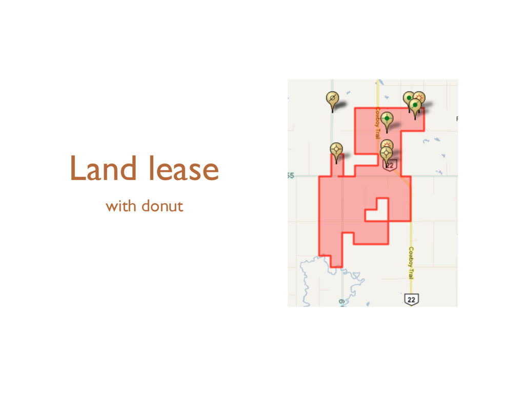Land lease with donut