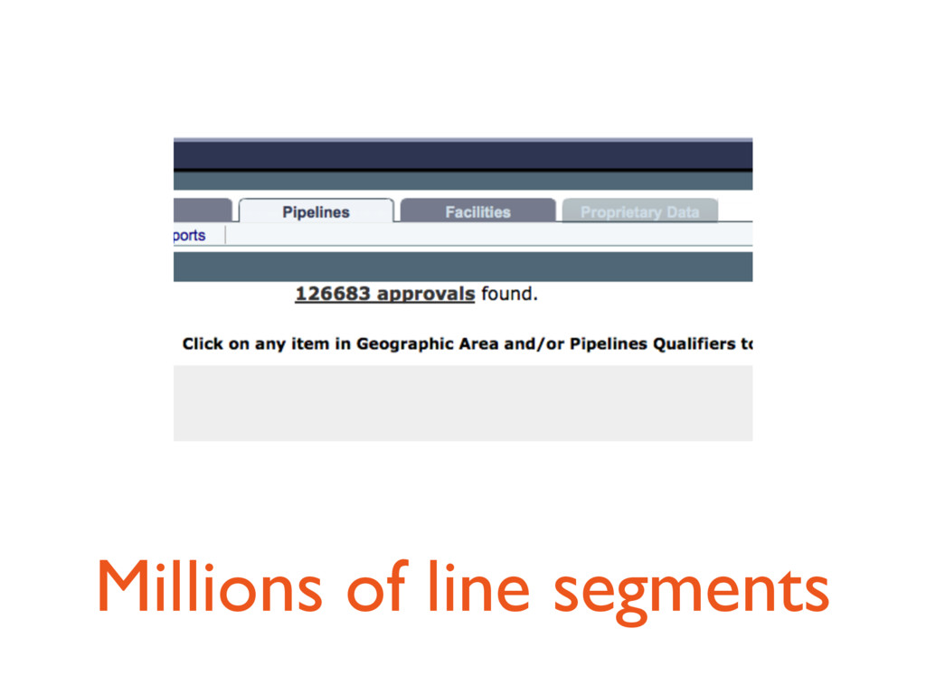 Millions of line segments
