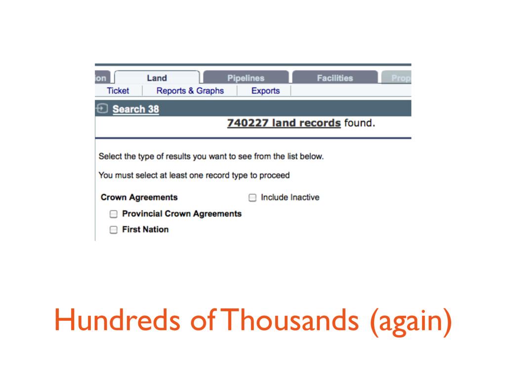 Hundreds of Thousands (again)