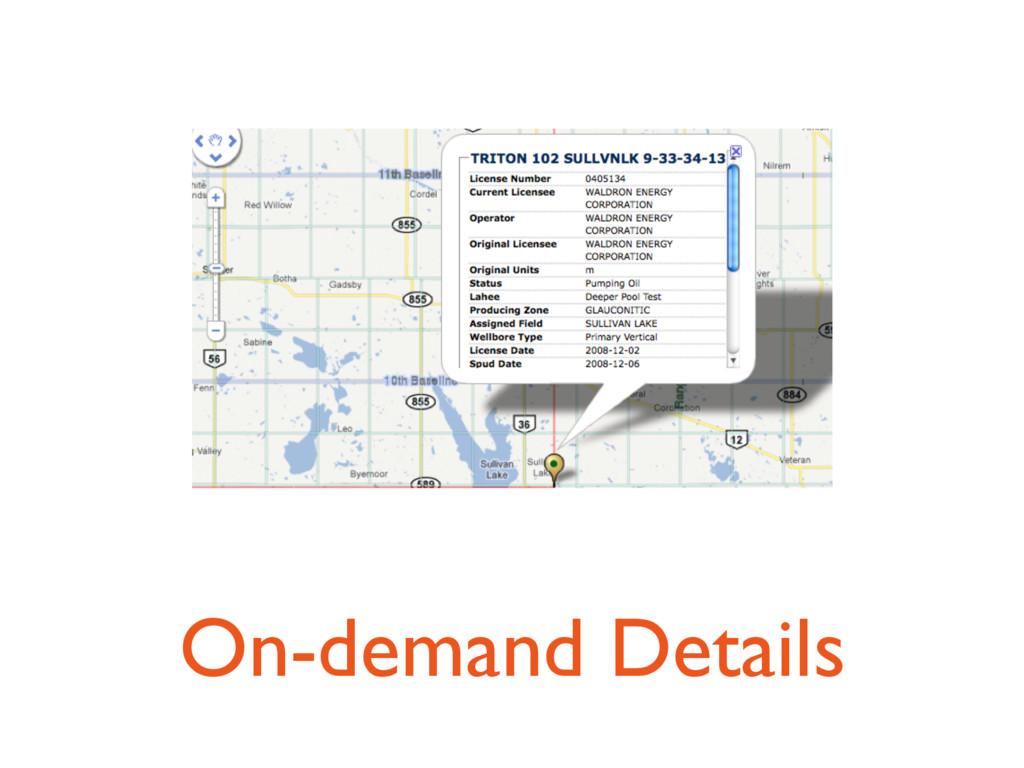 On-demand Details