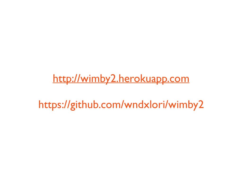 http://wimby2.herokuapp.com https://github.com/...