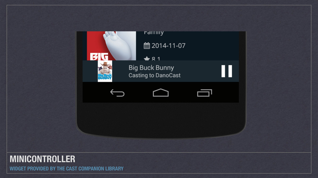 MINICONTROLLER WIDGET PROVIDED BY THE CAST COMP...