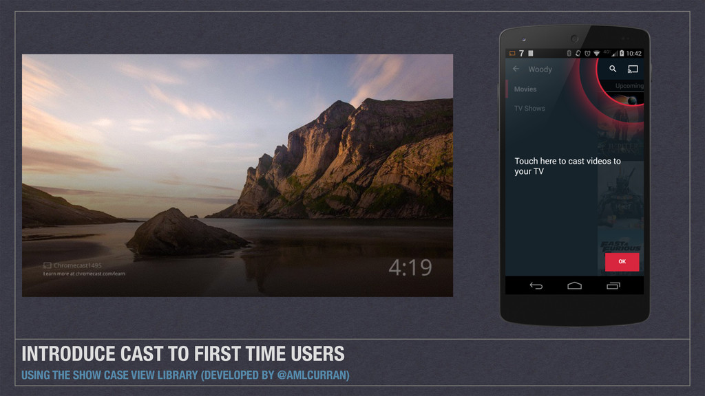 INTRODUCE CAST TO FIRST TIME USERS USING THE SH...
