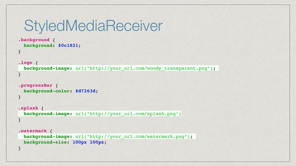 StyledMediaReceiver .background { background: #...