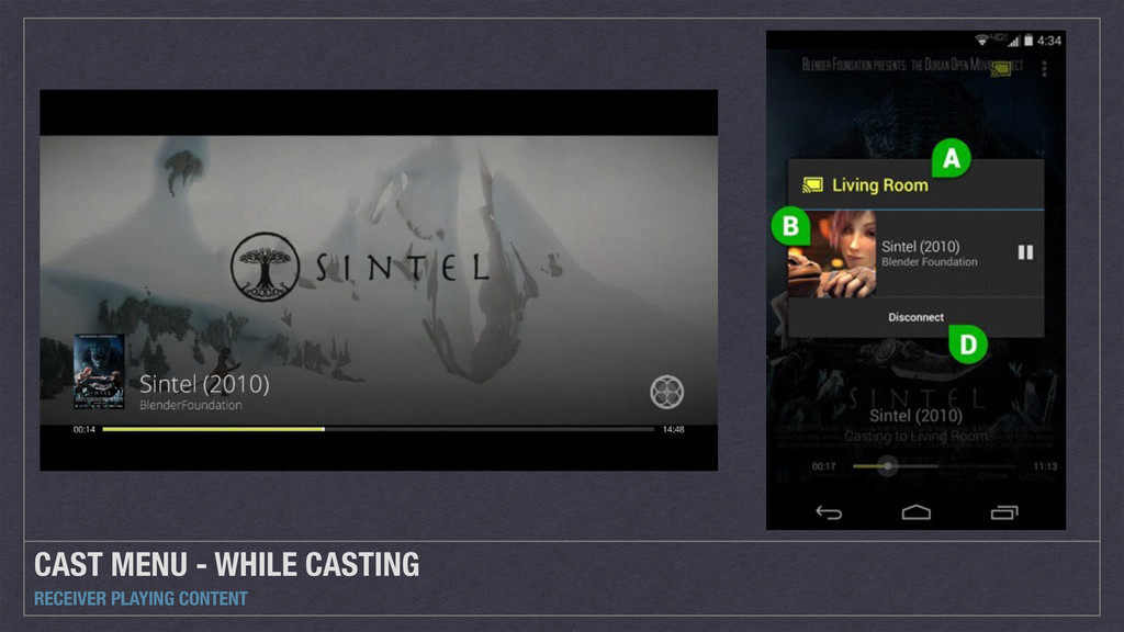 CAST MENU - WHILE CASTING RECEIVER PLAYING CONT...