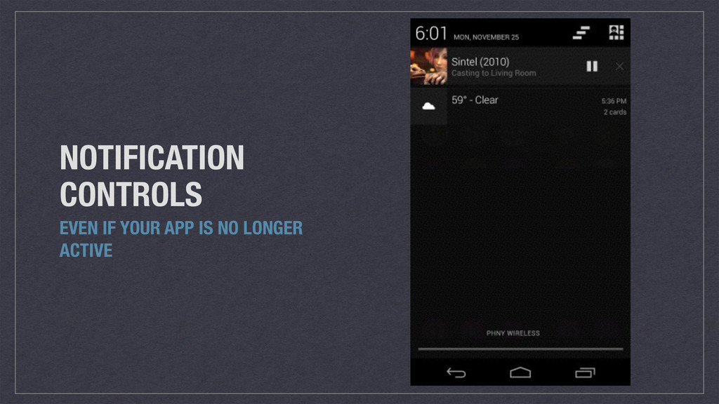 NOTIFICATION CONTROLS EVEN IF YOUR APP IS NO LO...