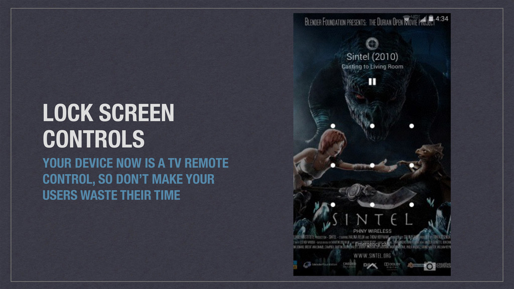 LOCK SCREEN CONTROLS YOUR DEVICE NOW IS A TV RE...