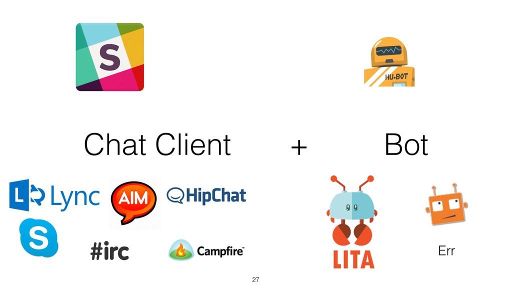 Chat Client + Bot 27 Err