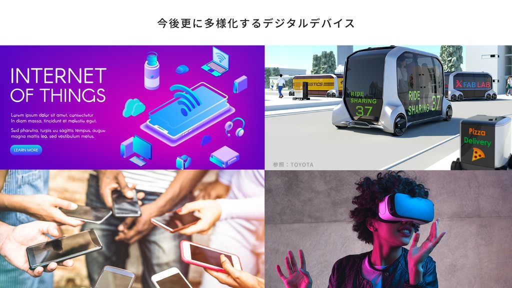 今後更に多様化するデジタルデバイス 参照:TOYOTA