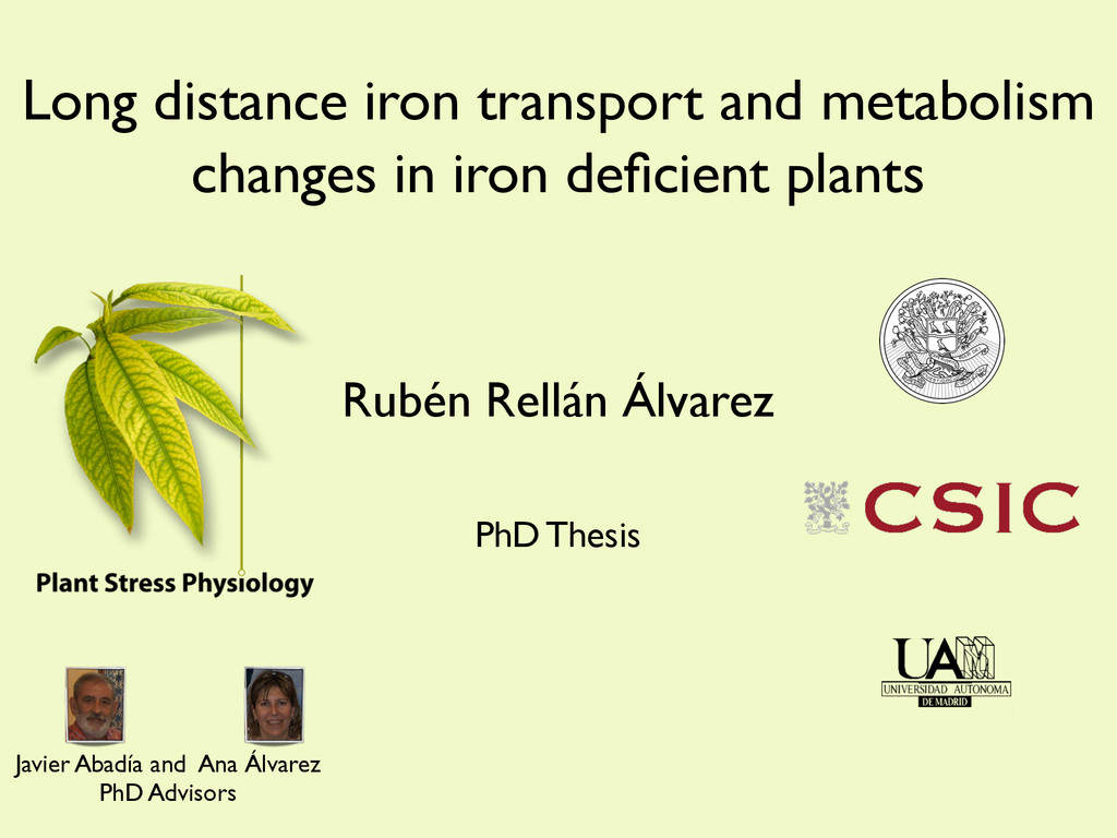 Long distance iron transport and metabolism cha...