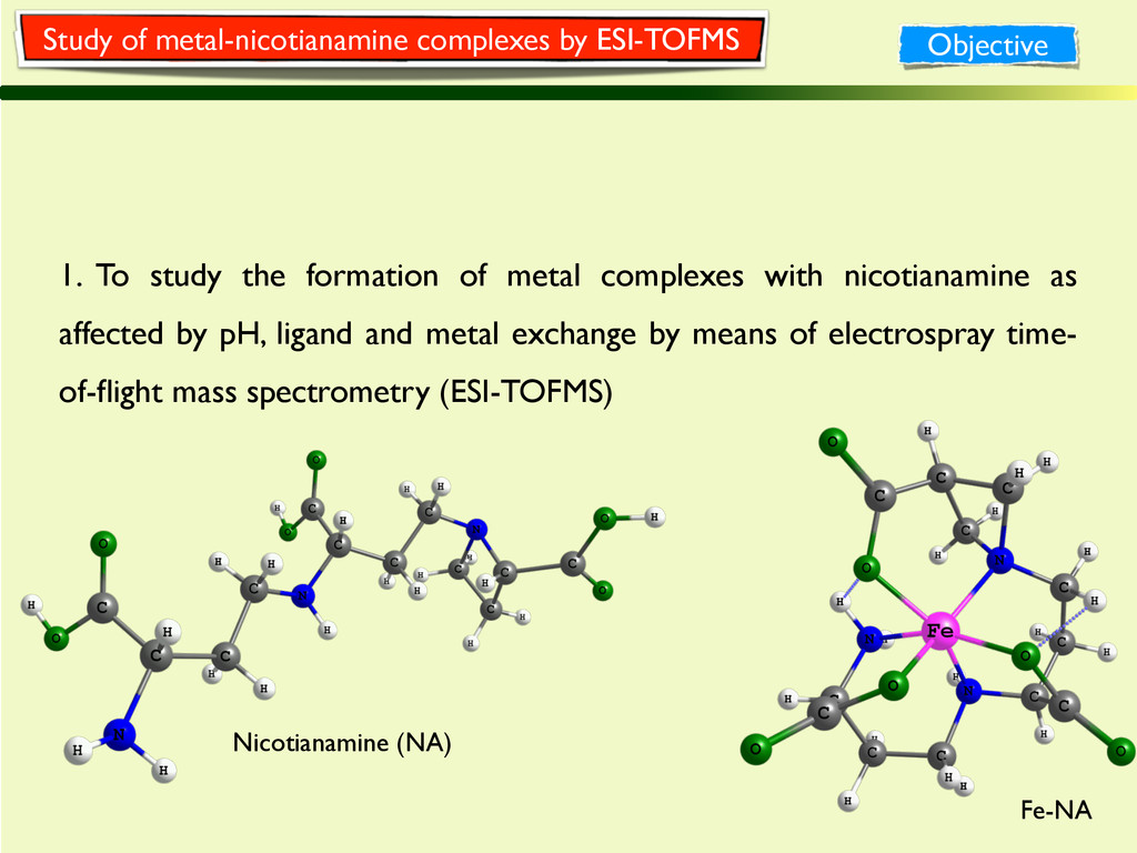 1. To study the formation of metal complexes wi...