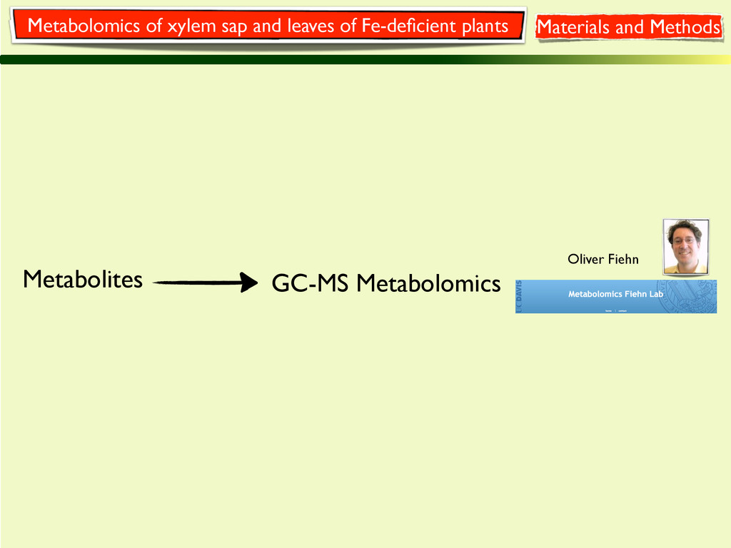 Metabolites GC-MS Metabolomics Oliver Fiehn Met...