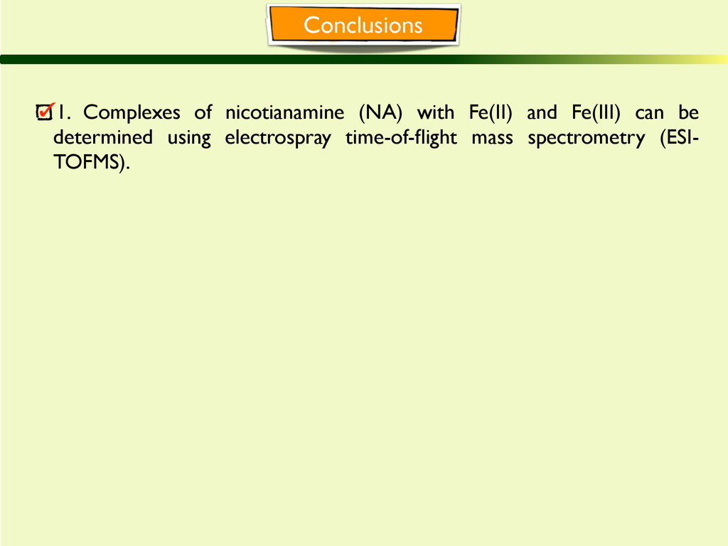 Conclusions 1. Complexes of nicotianamine (NA) ...