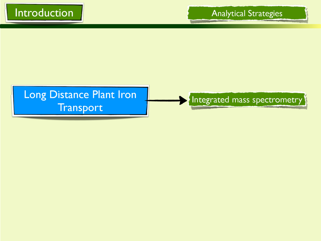 Analytical Strategies Long Distance Plant Iron ...