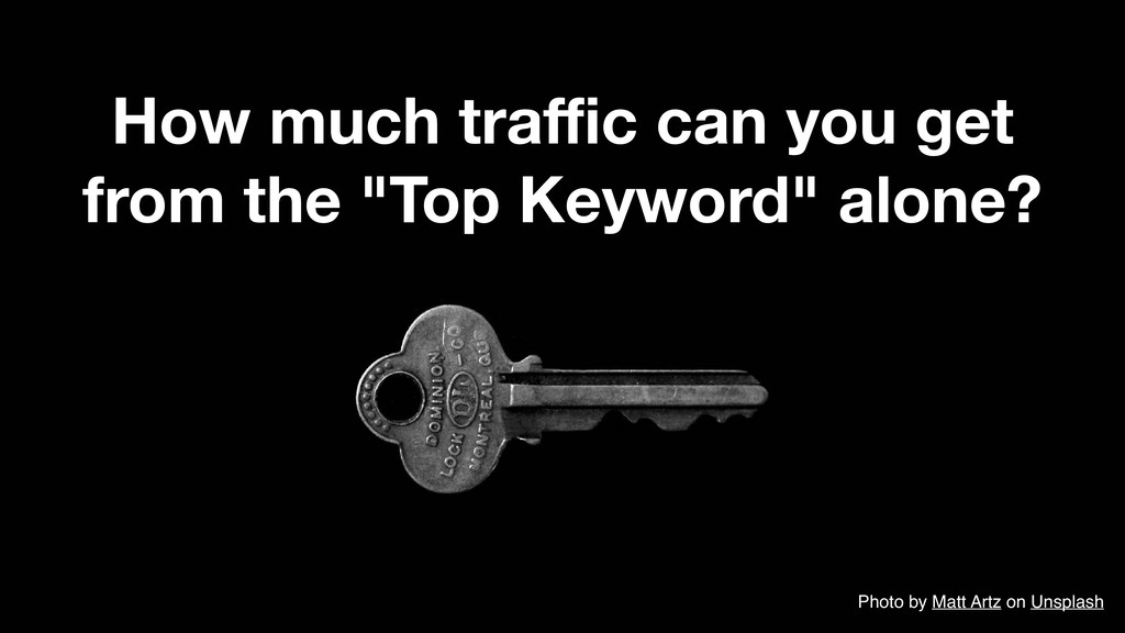 "How much traffic can you get from the ""Top Keywor..."