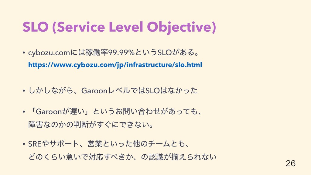 SLO (Service Level Objective) • cybozu.comʹՔಇ...