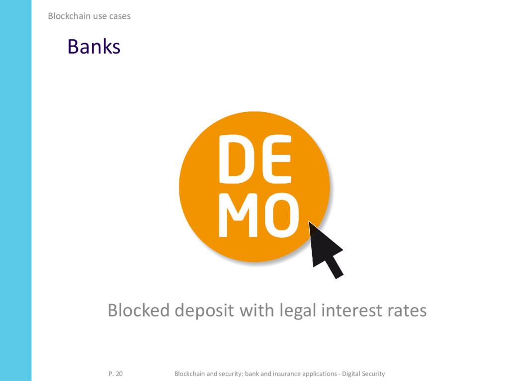 Banks Blockchain use cases P. 20 Blockchain and...