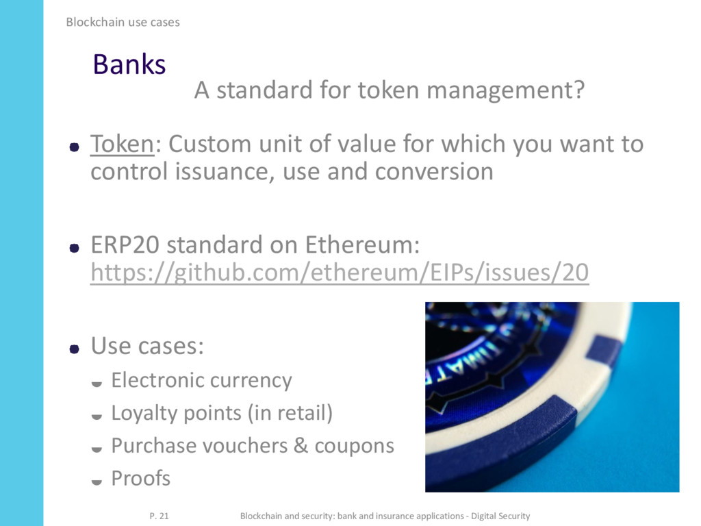 Banks Token: Custom unit of value for which you...