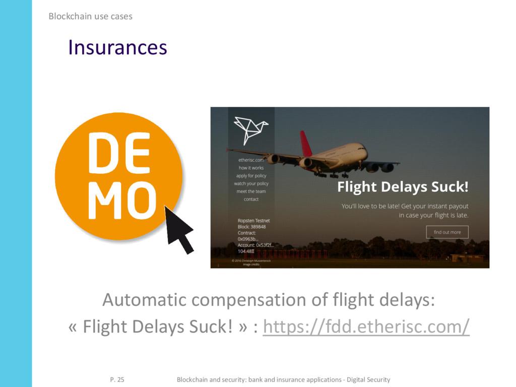Insurances Automatic compensation of flight del...